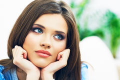 Young woman face portrait Stock Photography