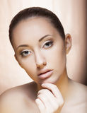 Young Woman Face - Spa Salon, Cosmetology concept Stock Photos
