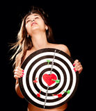 Young woman falling in love concept Stock Photography