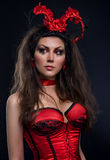 Young woman fantasy costume Royalty Free Stock Image