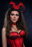 Young woman fantasy costume Stock Photography
