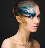 Young woman with fantasy make up Royalty Free Stock Image