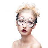 Young woman in fantasy makeup Stock Images