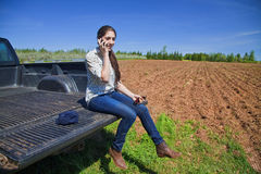 Young Woman Farmer Stock Photos