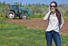 Young Woman Farmer Royalty Free Stock Photo