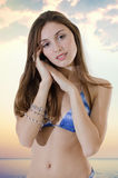 Young Woman Fashion Model Stock Image