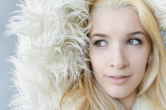 Young Woman Fashion Model face Royalty Free Stock Image