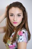 Young Woman Fashion Model Stock Photo