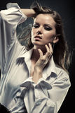 Young woman fashion portrait Royalty Free Stock Photos
