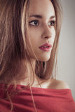 Young woman fashion portrait close up female face Royalty Free Stock Images