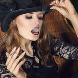 Young woman fashion portrait Royalty Free Stock Photo