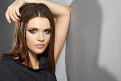 Young woman fashion style portrait. Stock Photography