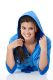 Young Woman In Fashionable Clothing Stock Photography