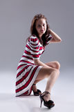 Young Woman In Fashionable Clothing Royalty Free Stock Photography