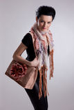 Young Woman In Fashionable Clothing Royalty Free Stock Photo