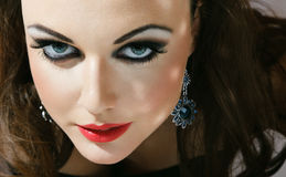 Young woman with fashionable makeup Royalty Free Stock Photo