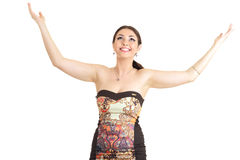 Young woman feeling happy Royalty Free Stock Photography