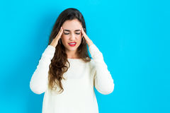 Young woman feeling stressed Stock Photography