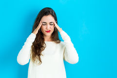 Young woman feeling stressed Stock Photo
