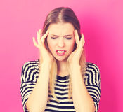 Young woman feeling stressed Stock Images