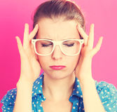 Young woman feeling stressed Royalty Free Stock Photo