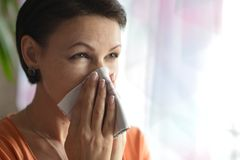 Young woman feels sickness Stock Photography
