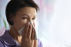 Young woman feels sickness Royalty Free Stock Image