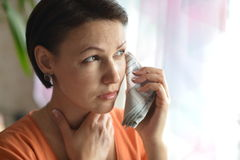 Young woman feels sickness Royalty Free Stock Photo