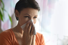 Young woman feels sickness Stock Photo
