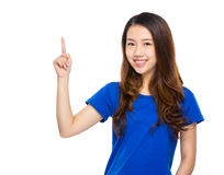 Young woman finger up Royalty Free Stock Photo