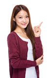 Young woman with finger up Stock Image