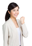Young woman with fist up Royalty Free Stock Photos