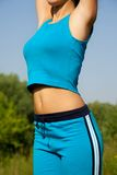 Young woman during fitness Royalty Free Stock Image