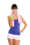 Young woman after fitness Royalty Free Stock Photo