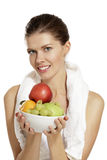 Young woman after fitness Royalty Free Stock Photography