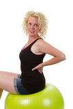 Young Woman On A Fitness Ball Stock Photos