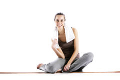 Young Woman In Fitness Clothing Royalty Free Stock Photography