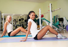Young woman  at the fitness club Stock Photos