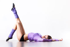 Young woman fitness exercises Royalty Free Stock Image