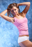 Young woman fitness exercises Royalty Free Stock Photo