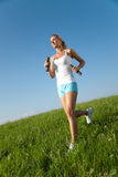 Young woman fitness exercises Royalty Free Stock Photos