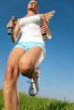 Young woman fitness exercises Royalty Free Stock Images