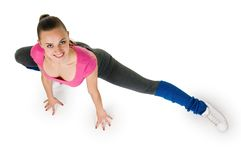 Young woman fitness exercises Stock Photo