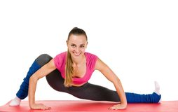 Young woman fitness exercises Royalty Free Stock Photography