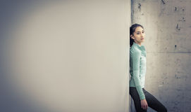 Young woman fitness health and wellness image. Concept stock photo