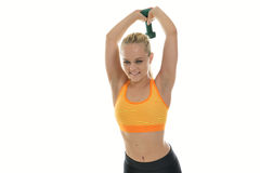 Young woman - fitness model - in studio Royalty Free Stock Photo