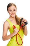 Young woman fitness. portrait Stock Photos