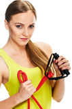 Young woman fitness. portrait Stock Photo