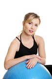 Young woman during fitness time Royalty Free Stock Image