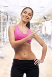 Young woman fitness Stock Photo